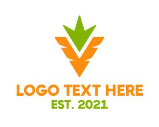Marketplace - Minimalist Carrot Crops logo design