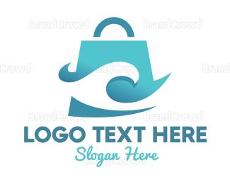 Water - Wave Bag logo design