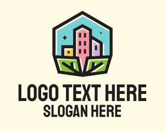 Appartment - Urban Housing City logo design