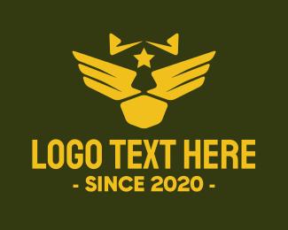Pilot - Military Pilot Golden Wings logo design