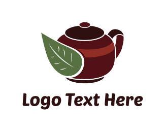 Teapot - Green Tea logo design
