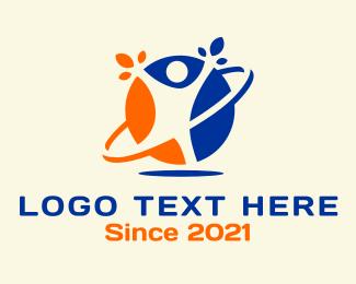 Human - Healthy Human Planet logo design