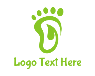Foot - Leaf Foot Footprint logo design