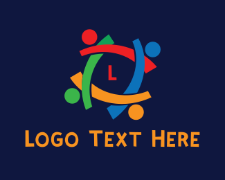 """""""Colorful People Lettermark """" by LogoBrainstorm"""