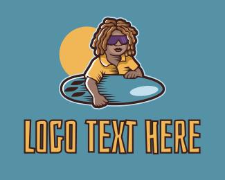 Tropical - Tropical Surfer Dude logo design