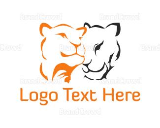 Couple - Feline Couple logo design