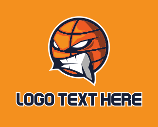 Angry - Angry Basketball  logo design