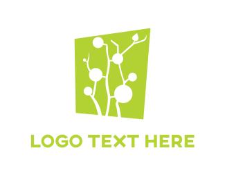 Green And White - White Tree logo design