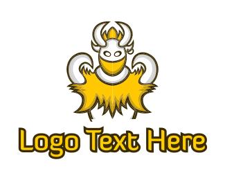 Warrior - Viking Monster logo design