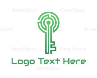 Biometric - Security Maze logo design