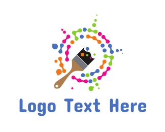 House Painter - Paint Splatter logo design