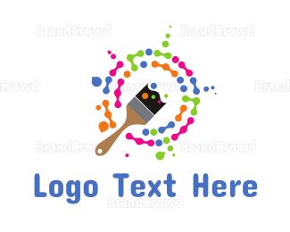 Painter - Paint Splatter logo design