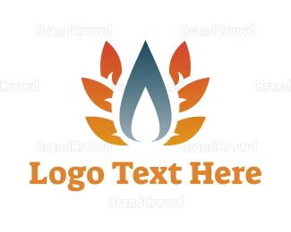 Energy - Blue Flame logo design