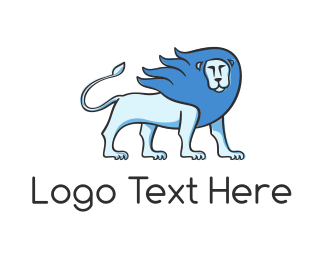 Brand - Blue Lion logo design