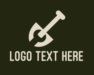 Shovel - Shovel Wrench Handyman Constructon logo design
