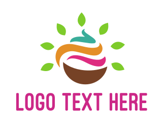 Pink Cake - Natural Yogurt logo design