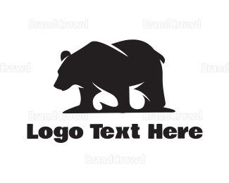 Silhouette - Wild Bear Silhouette logo design