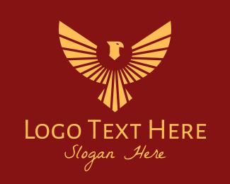 Egyptian - Flying Egyptian Bird logo design