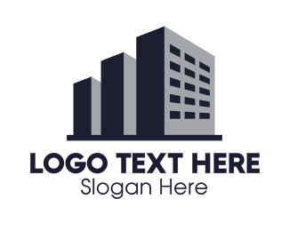 Commercial Property - Monochrome Building logo design