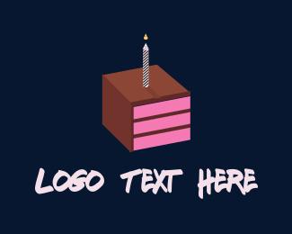 Cake Shop - Square Cake logo design