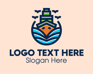 Cruise - Big Boat Cruise Ship logo design