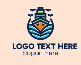 Ship - Big Boat Ship logo design