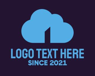 Upload - Cloud Door logo design
