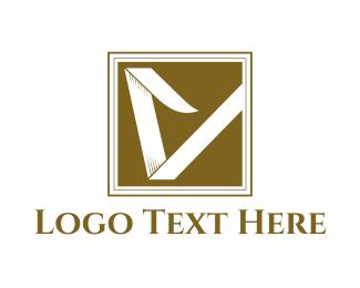 Leather - Abstract Letter V logo design