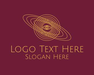 Fortune Teller - Galaxy Planet Eye Orbit logo design
