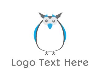 """Cute Blue Owl"" by DevCraftdesign"