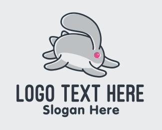 Running - Running Bunny Rabbit logo design