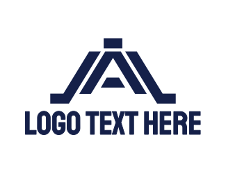 A1 - Modern Black A logo design