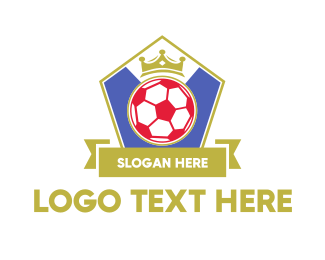 Soccer Tournament - King Soccer Emblem logo design