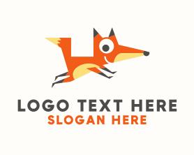 Jackal - Cute Fox Mascot logo design