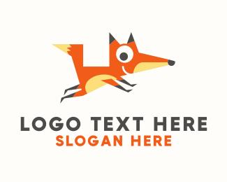 Racoon - Cute Fox Mascot logo design