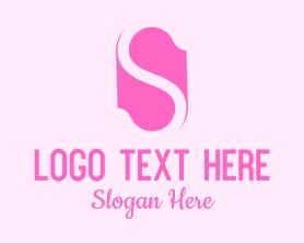 Company - Pink Letter S logo design