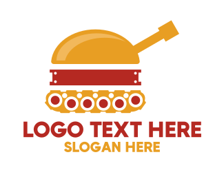 Military - Hamburger Tank logo design