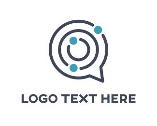 Talking - Maze Chat logo design