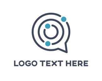 Chat - Maze Chat logo design