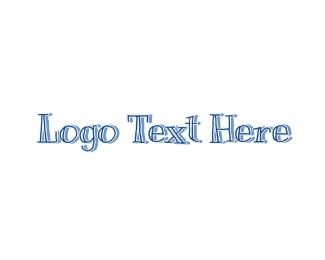 Diy - Blue Chalk Wordmark logo design