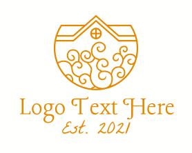 Real Estate - Mansion Decoration logo design