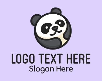 Anime - Panda Bear Circle logo design