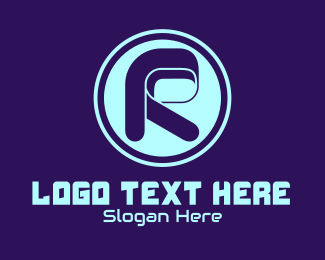 Racing - Retro Letter R logo design