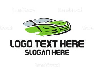 Car Hire - Green Car logo design