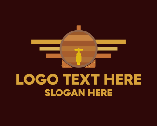 Brewing - Barrel Truck logo design