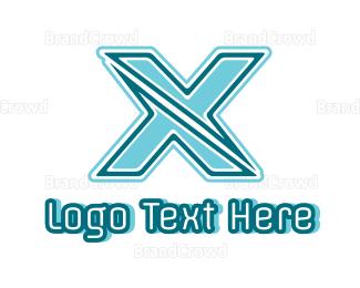 Extreme - Modern Outline X logo design