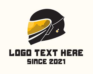 Bike Racing - Safety Gear Helmet logo design