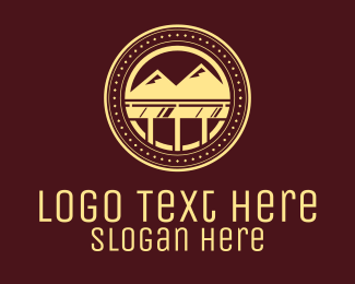 Sightseeing - Vintage Mountain View logo design