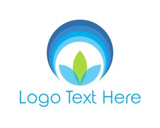 Chakra - Blue Flower Circle logo design