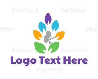 Birth - Pregnancy Tree logo design